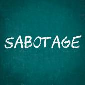 SABOTAGE written on chalkboard — Stock Photo