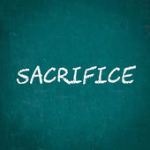 SACRIFICE written on chalkboard — Stock Photo