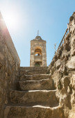 Old tower with a cross — Stock Photo