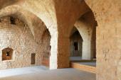 Ruins and details Crusader fortress — Stock Photo