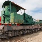 Yellow railway locomotive — Stock Photo #68609995