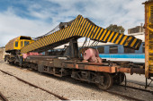 Old railway hoisting crane — Stock Photo