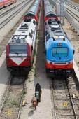 Rail trains — Stock Photo