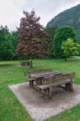 Tables and benches — Stock Photo