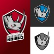 Rhino mascots for sport teams — Stock Vector #58637151