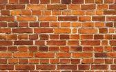 Red brick wall seamless background pattern — Stock Photo
