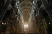 Interior of Notre-Dame de Reims cathedral (Our Lady of Reims, 1275) — Stock Photo