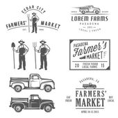 Vintage farming labels, badges and design elements — Stock Vector