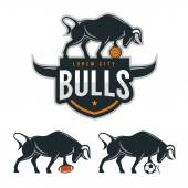 Bull mascot for sport teams — Stock Vector