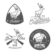 Set of vintage outdoors labels, badges and design elements — Stock Vector