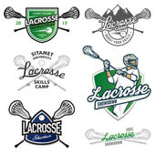 Set of lacrosse design elements — Stock Vector