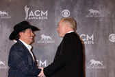 George Strait and Jerry Jones — Stock Photo