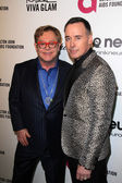 Elton John, David Furnish — Foto Stock