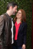 Darren Le Gallo and Amy Adams — Stock Photo