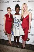 Kate Mara, Lupita Nyong'o and Elle Fanning — Stock Photo