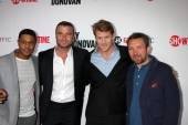 Pooch Hall, Liev Schreiber, Dash Mihok and Eddie Marsan — Stock Photo