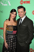Lizzy Caplan and Michael Sheen — Stock Photo