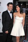 Michael Sheen and Sarah Silverman — Stock Photo