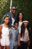 Bill bellamy en familie — Stockfoto