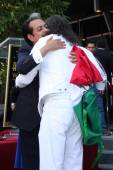 Los Tigres Del Norte and Marco Antonio Solis — Stock Photo