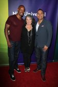 Keenen Ivory Wayans, Roseanne Barr and Russell Peters — Stock Photo