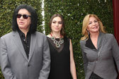Gene Simmons, Sophie Simmons and Shannon Tweed — Stock Photo