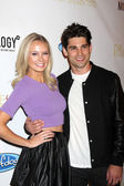 Melissa Ordway and Justin Gaston — Stock Photo