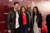 Darren Le Gallo, Amy Adams, John Varvatos and Joyce Varvatos — Stock Photo