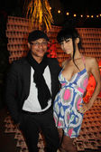 Clinton H.Wallace and Bai Ling — Stock Photo