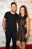 Val Chmerkovskiy and Danica McKellar — Stock Photo