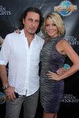 Patrick Tatopoulos and McKenzie Westmore — Stock Photo