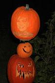Kris Jenner Carved on Pumpkin — Stock Photo