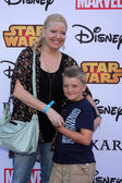 Melissa Peterman and Riley David Brad — Stock Photo