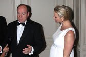 Prince Albert II of Monaco, Princess Charlene of Monaco — Stock Photo