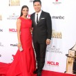 Courtney Laine Mazza and Mario Lopez — Stock Photo #55660839