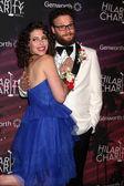 Lauren Miller Rogen and Seth Rogen — Stock Photo