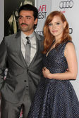 Oscar Isaac and Jessica Chastain — Stock Photo