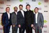 A.J. McLean, Nick Carter, Brian Littrell, Kevin Richardson, Howie Dorough — Stock Photo