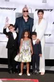 Vin Diesel, Paloma Jimenez, children — Stock Photo