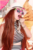Phoebe Price at the Orange County Fair — Stok fotoğraf