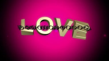 Love chained breaks free concept — Stock Video