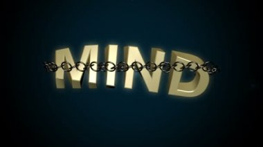 Chained mind text breaks free concept. — Stock Video