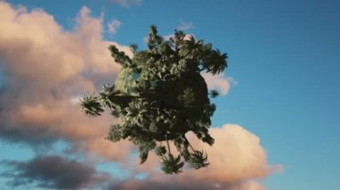 Concept tree planet loop — Stock Video