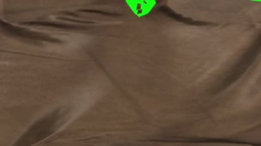 Brown suede leather material ripped transition with green screen and alpha — Stock Video