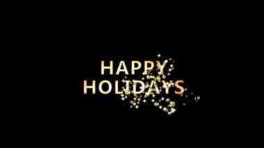 A swarm of stars cover a Happy Holidays sign second version — Stock Video