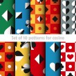 Set of ten card game vector seamless patterns. — Vecteur #77156111