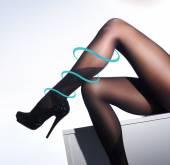Beautiful legs in nice pantyhose — Stock Photo