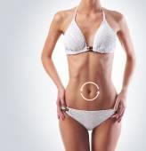 Healthy woman body — Stock Photo