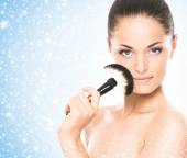 Woman with healthy  skin — Stock Photo