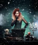 Beautiful witch — Stock Photo